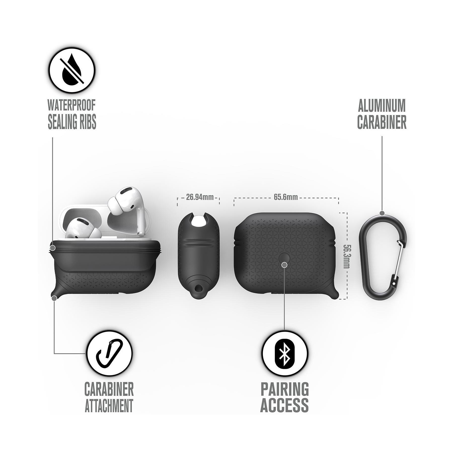 Catalyst Waterproof Premium Edition Apple AirPods Pro Case - Stealth Black