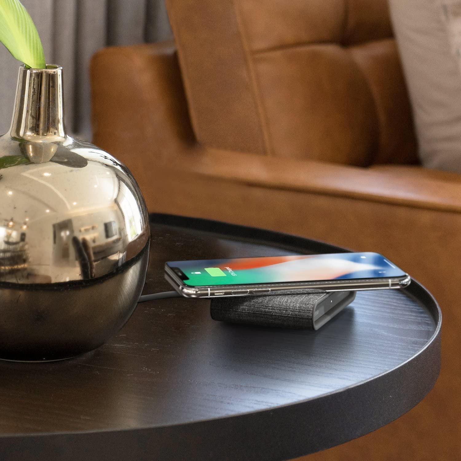 iOttie iON Mini Wireless Fast Charging Pad with Power Adapter - Gray
