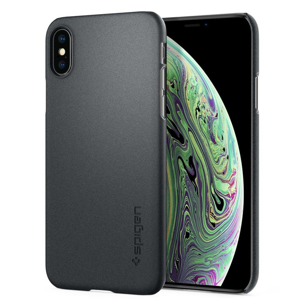 Spigen® Thin Fit™ 063CS24905 iPhone XS / X Case - Graphite Gray