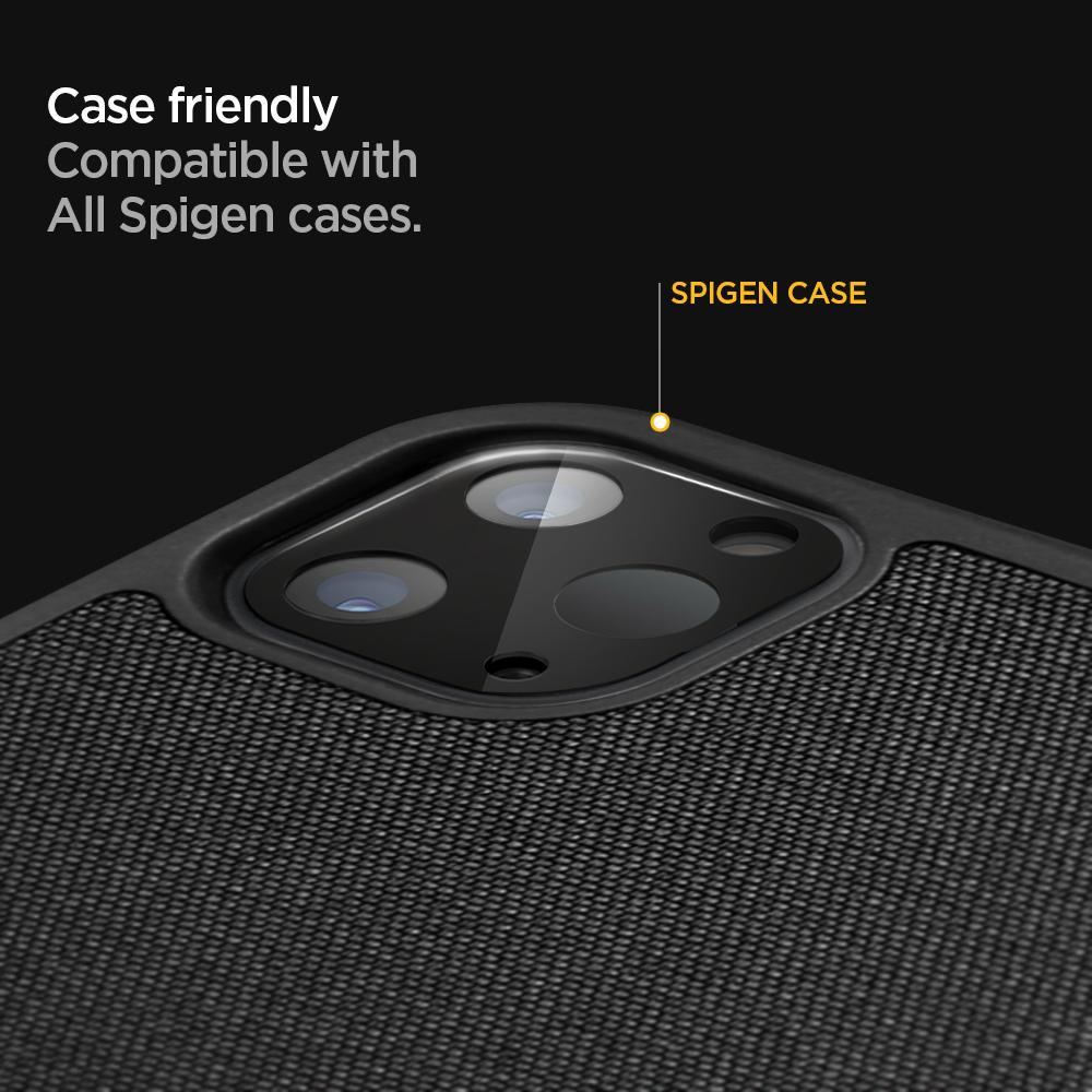 Spigen® (x2Pack) Full Cover Camera Lens AGL01110 iPad Pro 12.9-inch / 11-inch (2020) Premium Tempered Glass - Black