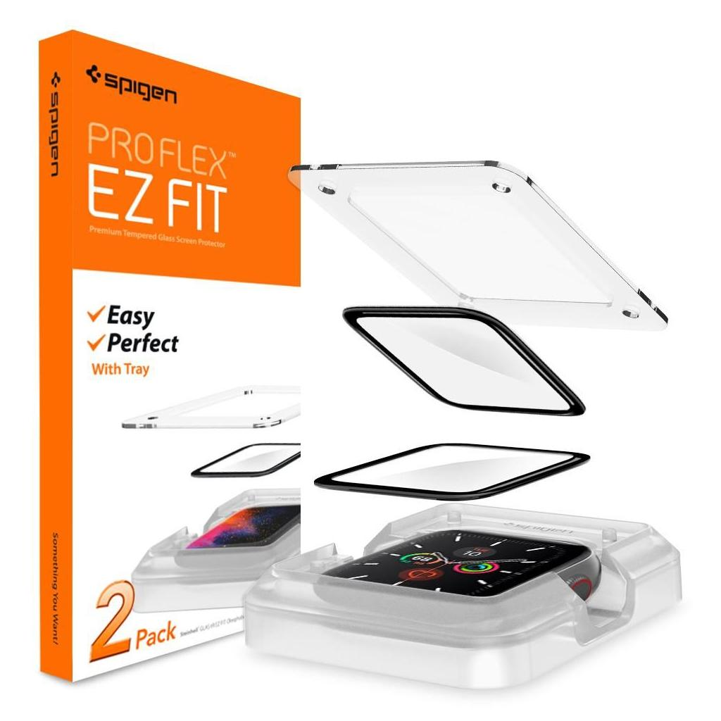 Spigen® (x2Pack) ProFlex™ EZ Fit AFL01219 Apple Watch Series 5 / 4 (40mm) Premium Screen Protector