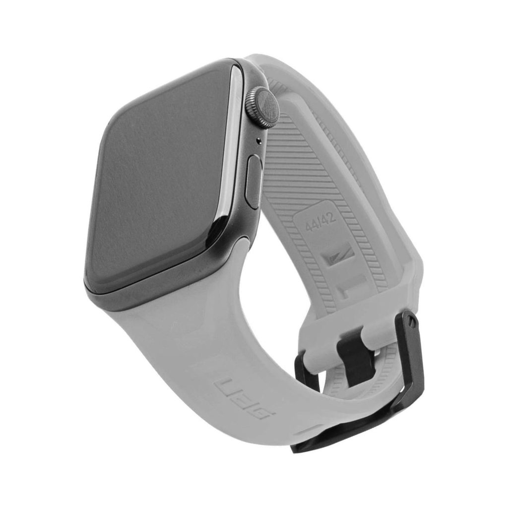 Urban Armor Gear (UAG) Scout Apple Watch Series 5 / 4 / 3 / 2 / 1 (44mm / 42mm) Silicone Strap - Silver