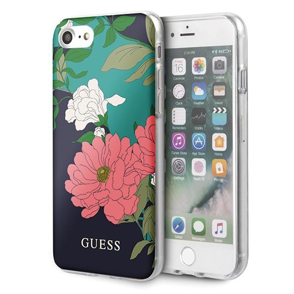 Guess® Flower Collection iPhone SE (2020) / 8 / 7 Case - Shiny