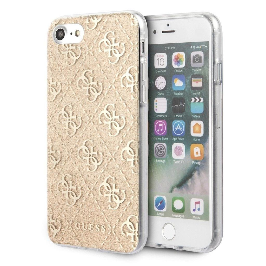 Guess® Glitter Collection iPhone SE (2020) / 8 / 7 Case - Gold