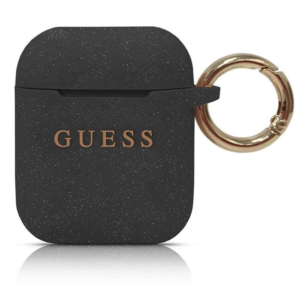 Guess® Silicone Collection Apple AirPods Case - Black