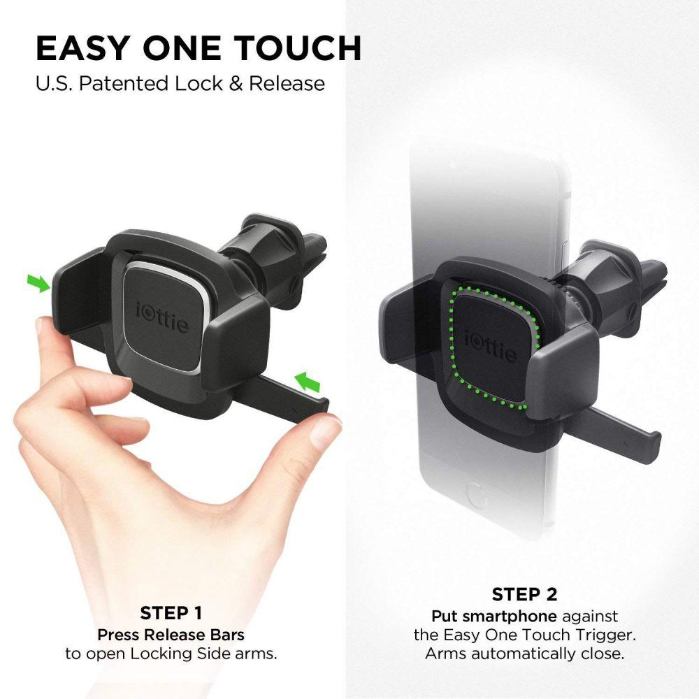iOttie Easy One Touch 4 HLCRIO126 Air Vent Car Mount - Black