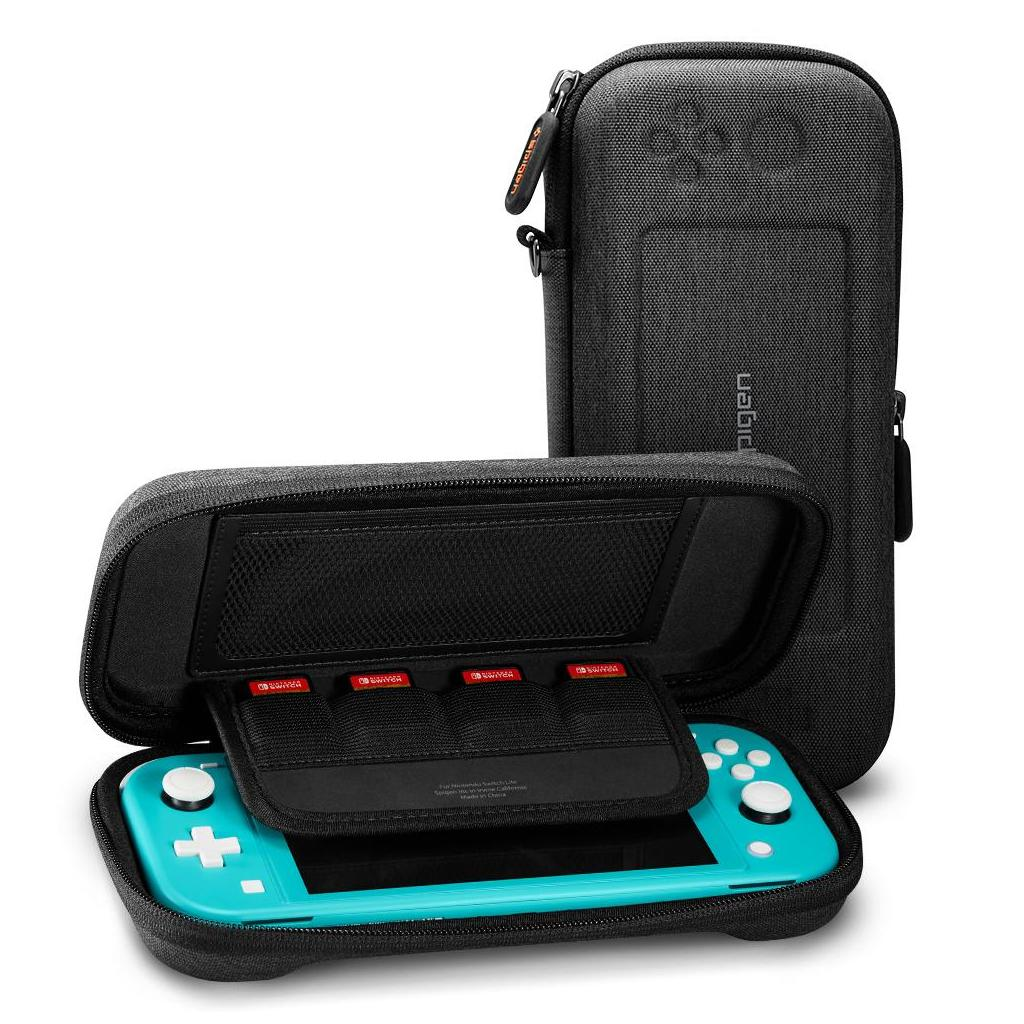 Spigen® AFA00865 Nintendo Switch Lite Klasden Pouch - Charcoal Gray