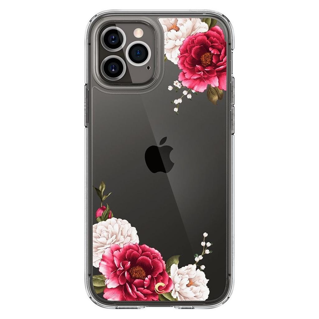 Spigen® Cyrill Cecile Collection ACS01729 iPhone 12 / 12 Pro Case - Red Floral