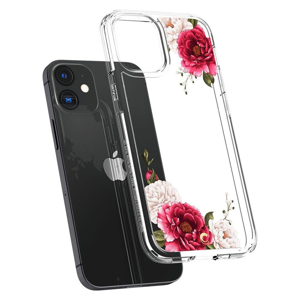 Spigen® Cyrill Cecile Collection ACS01780 iPhone 12 Mini Case - Red Floral