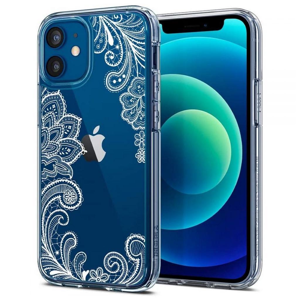 Spigen® Cyrill Cecile Collection ACS01781 iPhone 12 Mini Case - White Mandala