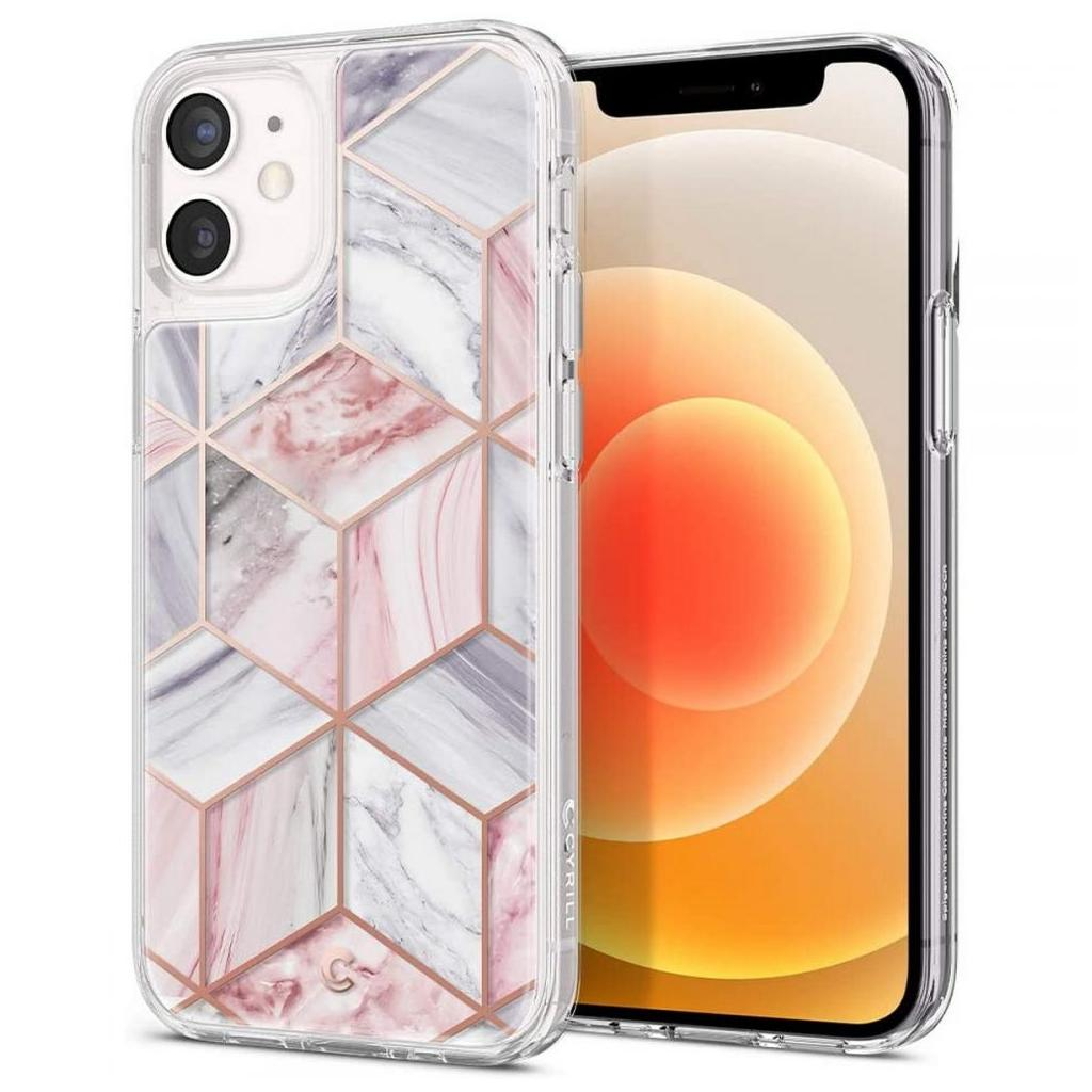 Spigen® Cyrill Cecile Collection ACS01782 iPhone 12 Mini Case - Pink Marble