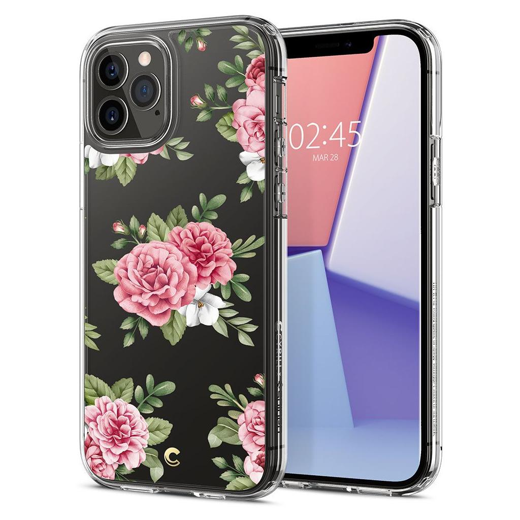 Spigen® Cyrill Cecile Collection ACS01828 iPhone 12 / 12 Pro Case - Pink Floral