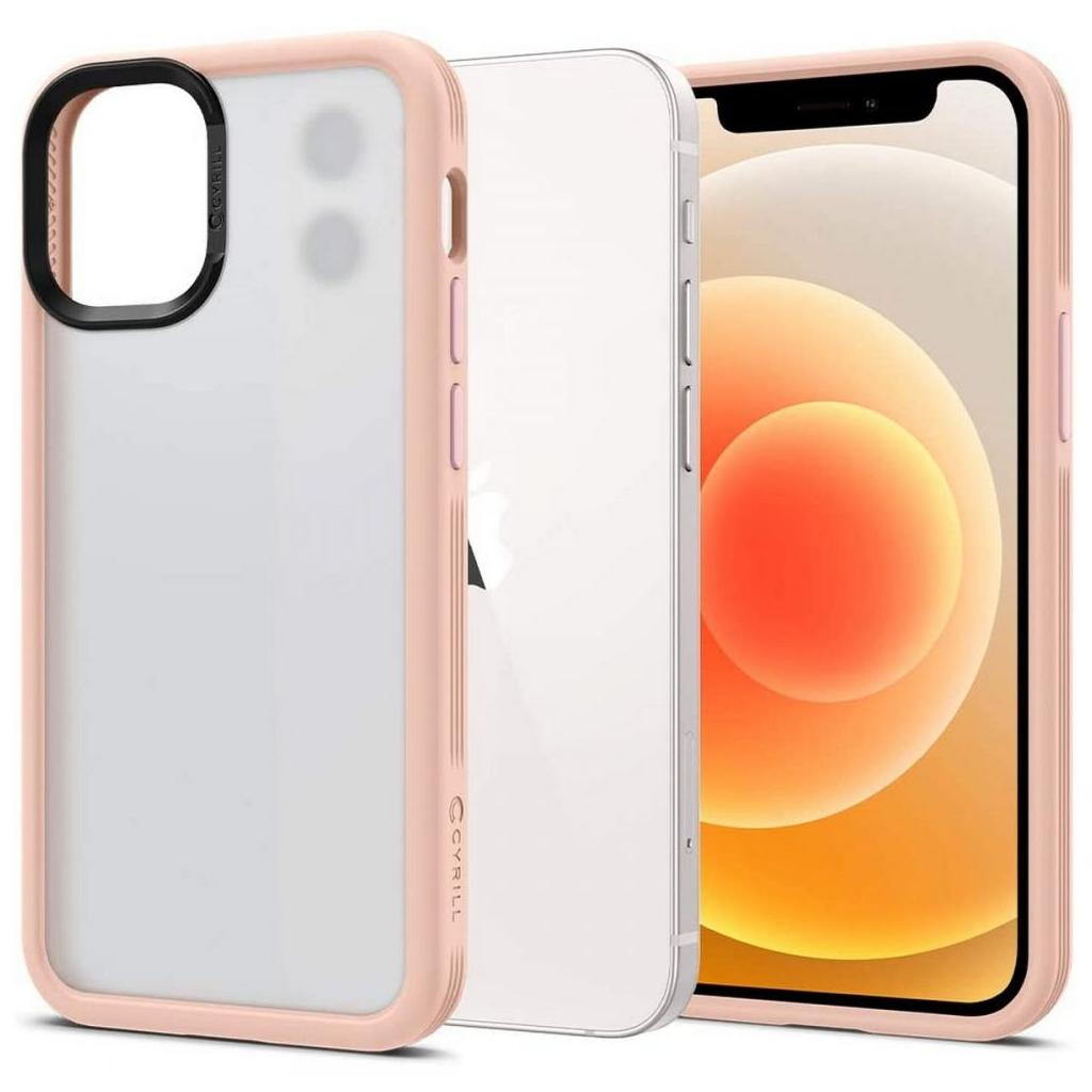 Spigen® Cyrill Color Brick ACS01947 iPhone 12 Mini Case - Pink Sand