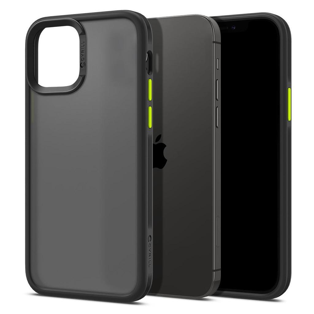 Spigen® Cyrill Color Brick Collection ACS01730 iPhone 12 / 12 Pro Case - Black