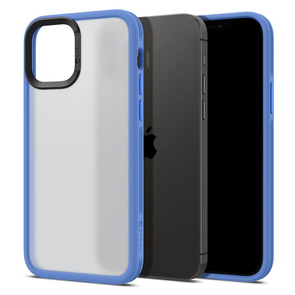 Spigen® Cyrill Color Brick Collection ACS01731 iPhone 12 / 12 Pro Case - Navy