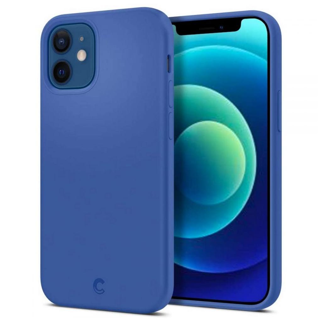 Spigen® Cyrill Silicone Collection ACS01946 iPhone 12 Mini Case - Linen Blue