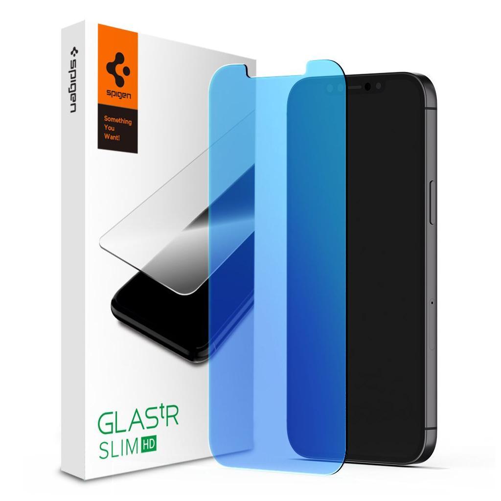 Spigen® GLAS.tR Antiblue HD AGL01536 iPhone 12 Mini Premium Tempered Glass Screen Protector
