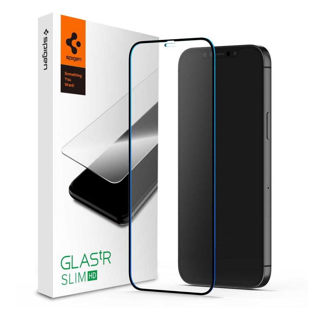 Spigen® GLAS.tR™ Full Cover HD AGL01534 iPhone 12 Mini Premium Tempered Glass Screen Protector