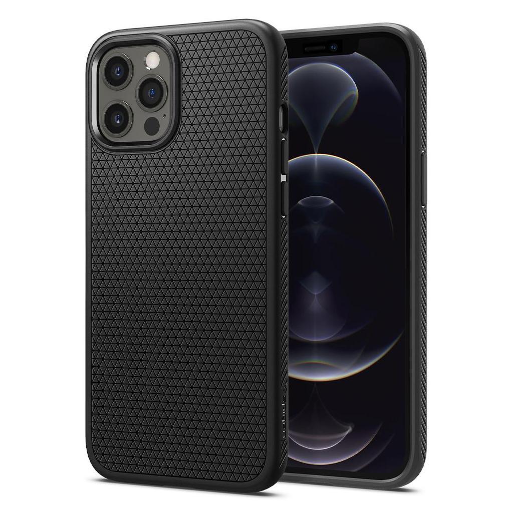 Spigen® Liquid Air™ ACS01701 iPhone 12 / 12 Pro Case - Matte Black