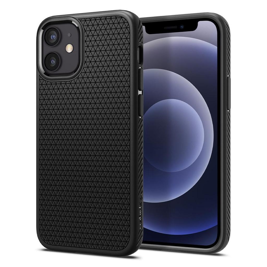 Spigen® Liquid Air™ ACS01744 iPhone 12 Mini Case - Matte Black