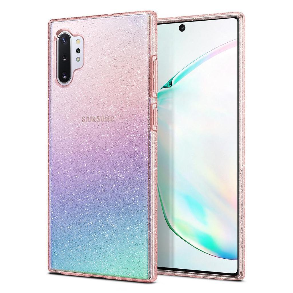 Spigen® Liquid Crystal™ Glitter 627CS27329 Samsung Galaxy Note 10+ Plus Case - Rose Quartz