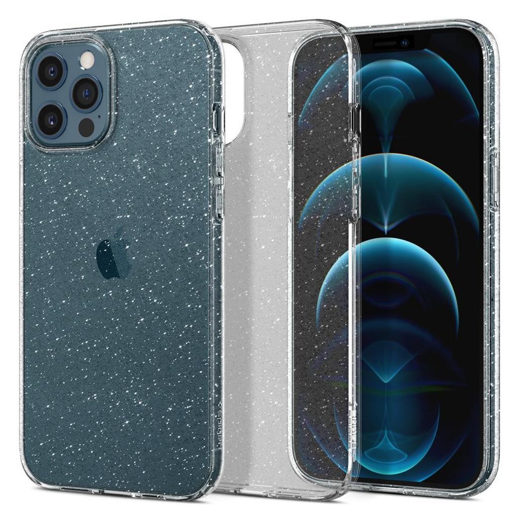 Spigen® Liquid Crystal™ Glitter ACS01614 iPhone 12 Pro Max Case - Crystal Quartz