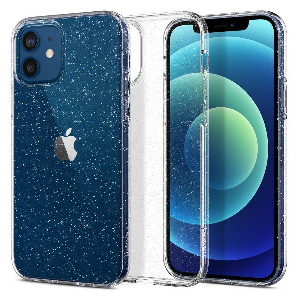 Spigen® Liquid Crystal™ Glitter ACS01698 iPhone 12 / 12 Pro Case - Crystal Quartz