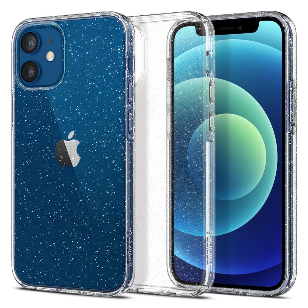 Spigen® Liquid Crystal™ Glitter ACS01741 iPhone 12 Mini Case - Crystal Quartz