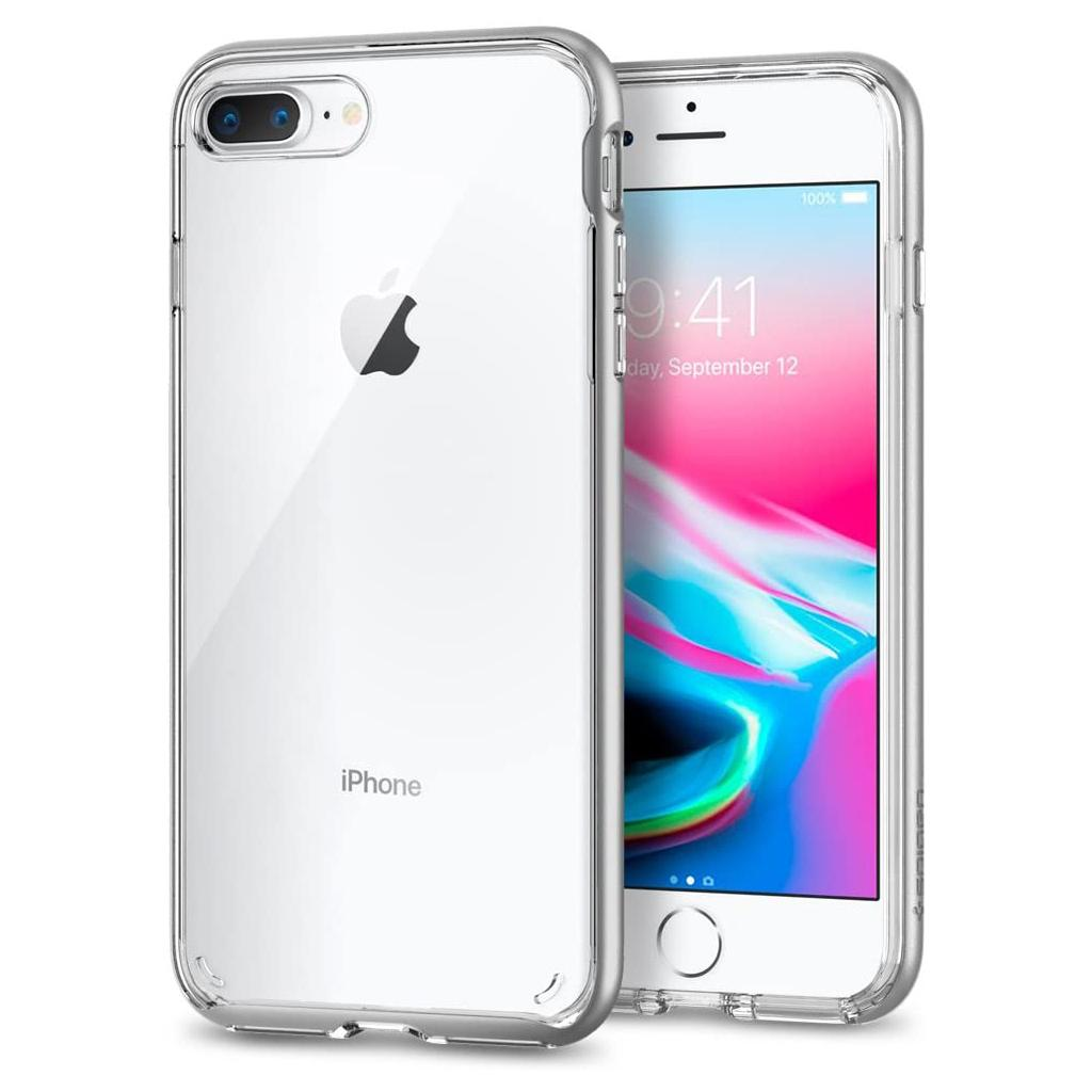 Spigen® Neo Hybrid™ Crystal 2 055CS22370 iPhone 8 Plus / 7 Plus Case – Satin Silver