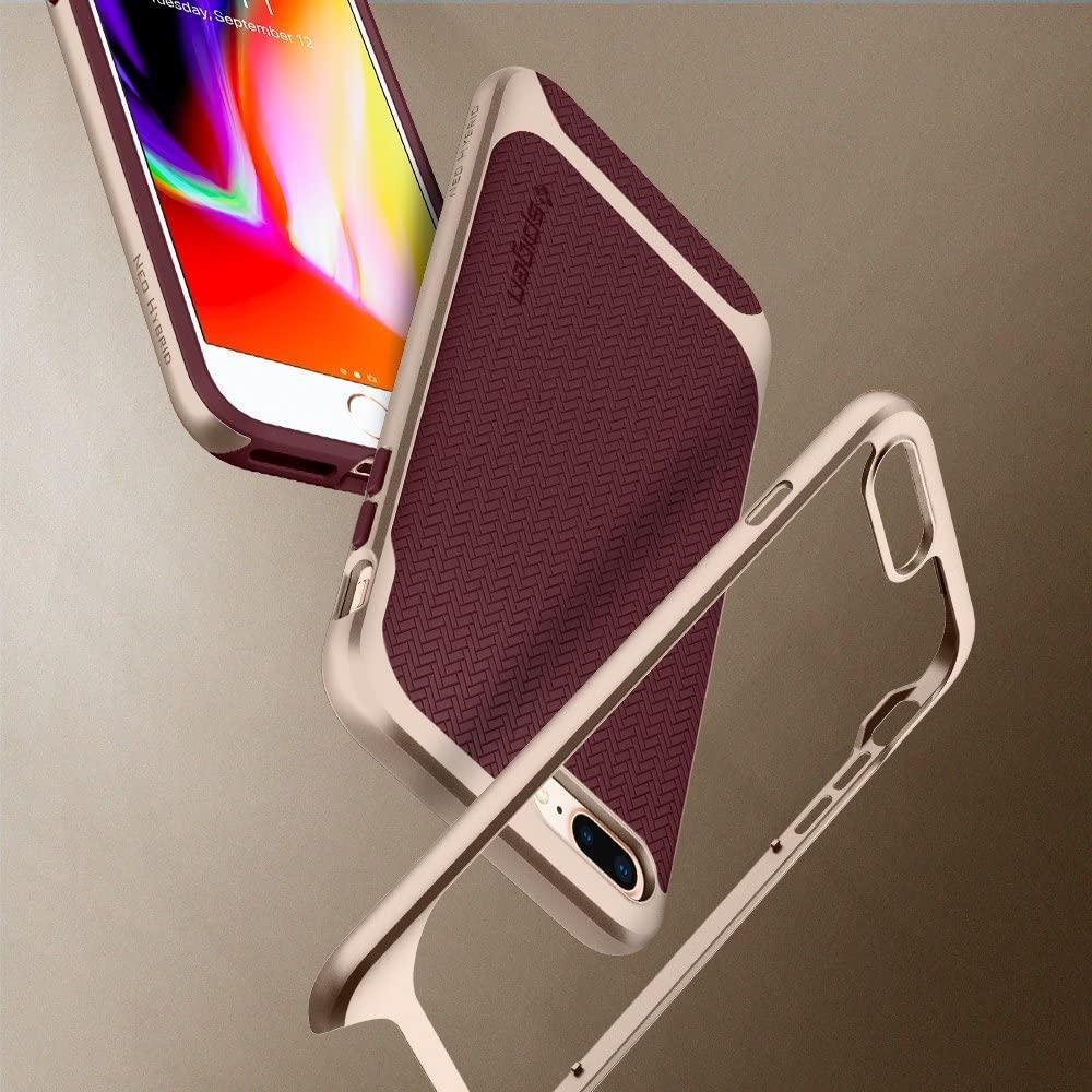 Spigen® Neo Hybrid™ Herringbone 055CS22228 iPhone 8 Plus / 7 Plus Case - Burgundy