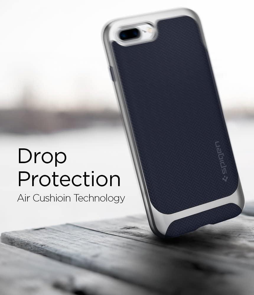 Spigen® Neo Hybrid™ Herringbone 055CS22229 iPhone 8 Plus / 7 Plus Case – Satin Silver