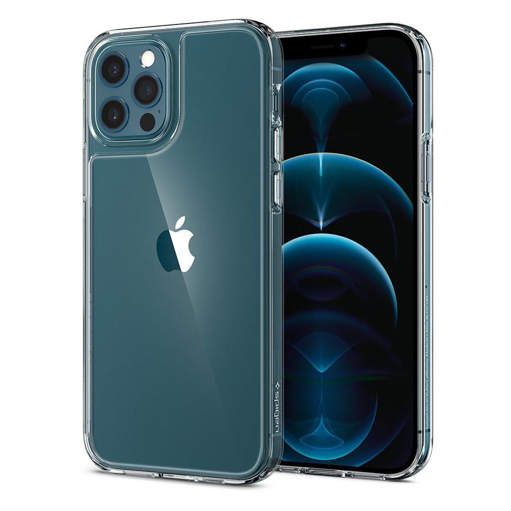 Spigen® Quartz Hybrid™ ACS01705 iPhone 12 / 12 Pro Case - Crystal Clear
