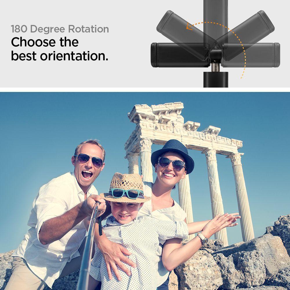 Spigen® S550W Angel Ring 000MP26411 Led Selfie Stick - White