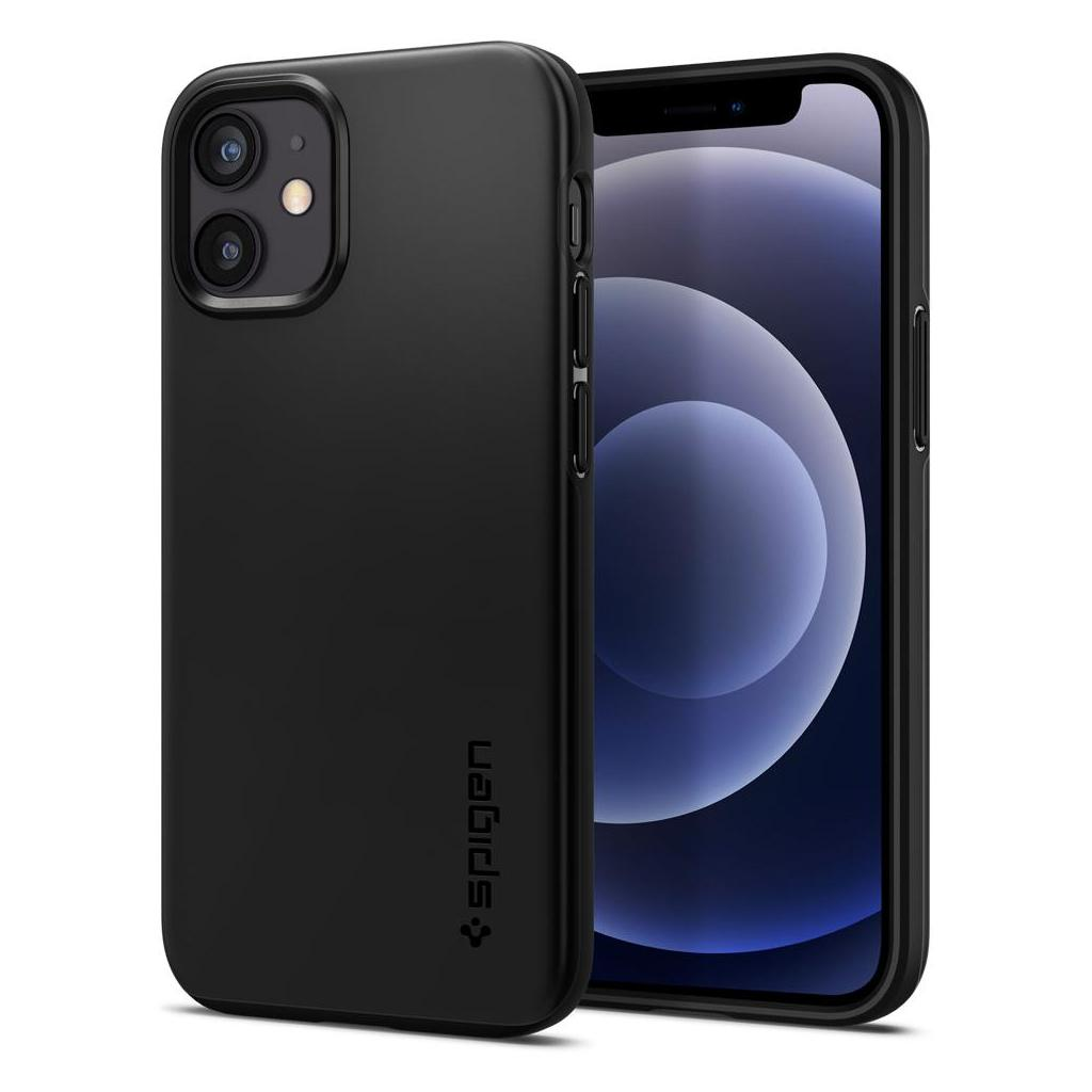 Spigen® Thin Fit™ ACS01739 iPhone 12 Mini Case - Black