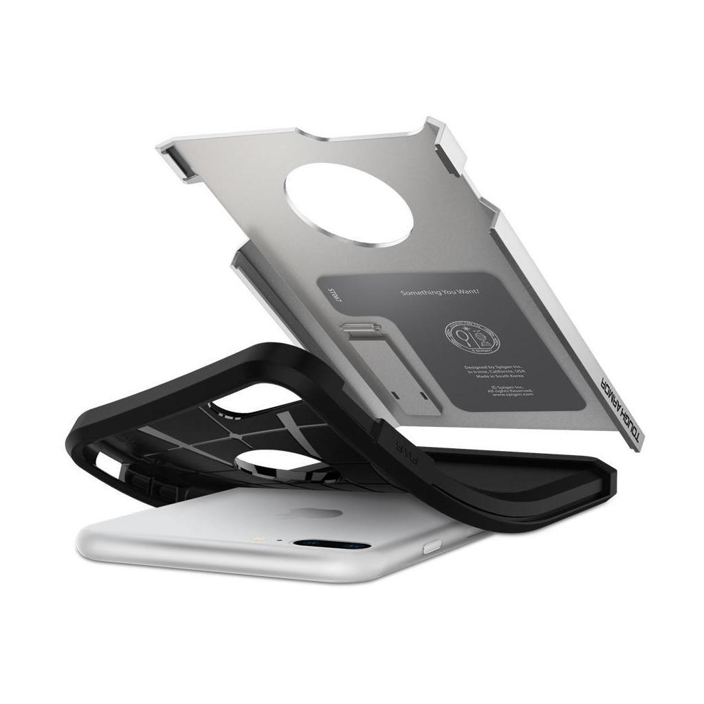 Spigen® Tough Armor™ 2 055CS22247 iPhone 8 Plus / 7 Plus Case - Satin Silver