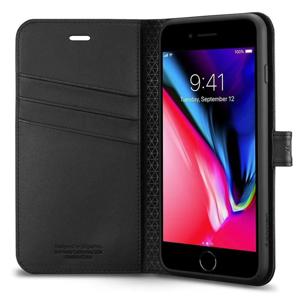 Spigen® Wallet S™ 055CS22637 iPhone 8 Plus / 7 Plus Case - Black