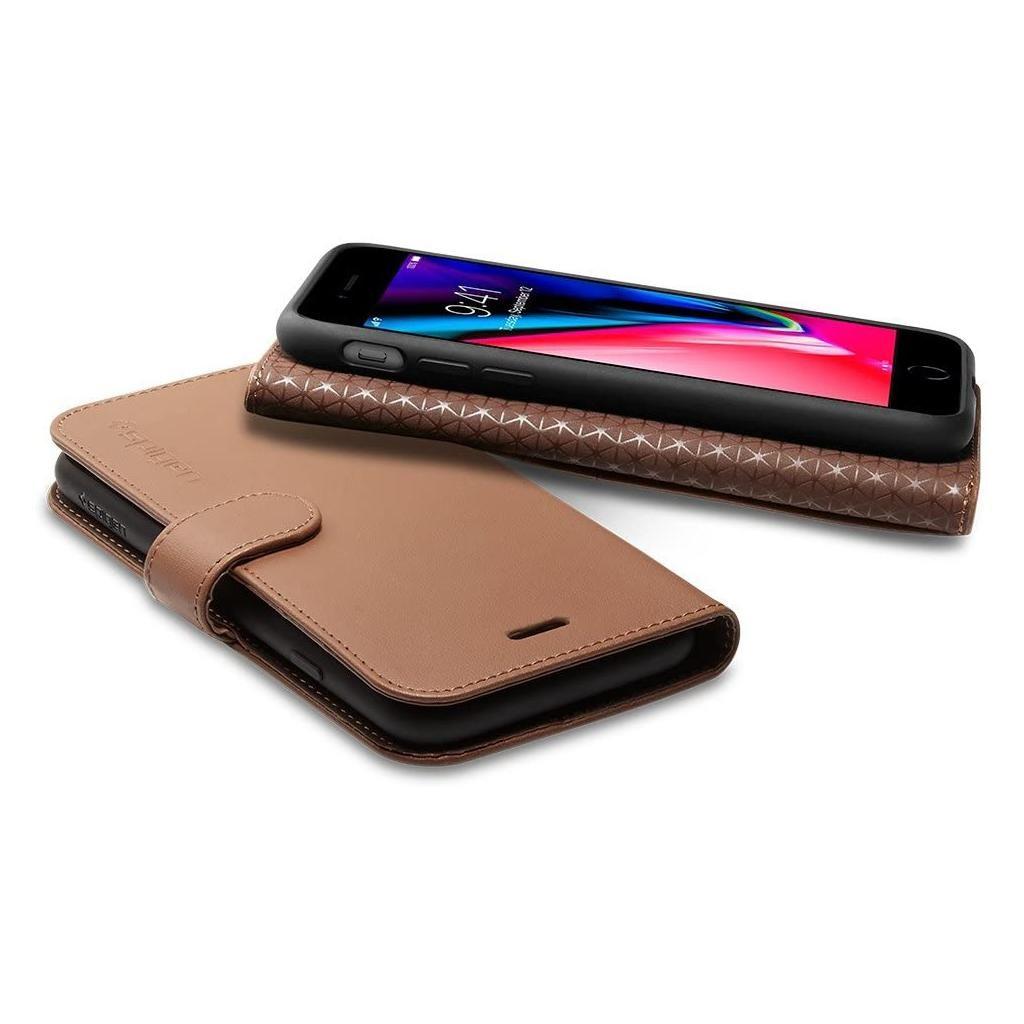 Spigen® Wallet S™ 055CS22638 iPhone 8 Plus / 7 Plus Case – Brown