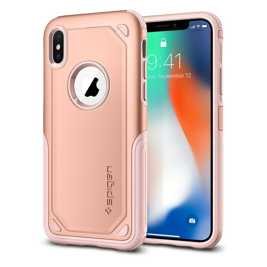 Spigen® Hybrid Armor™ 057CS22351 iPhone X Case – Blush Gold