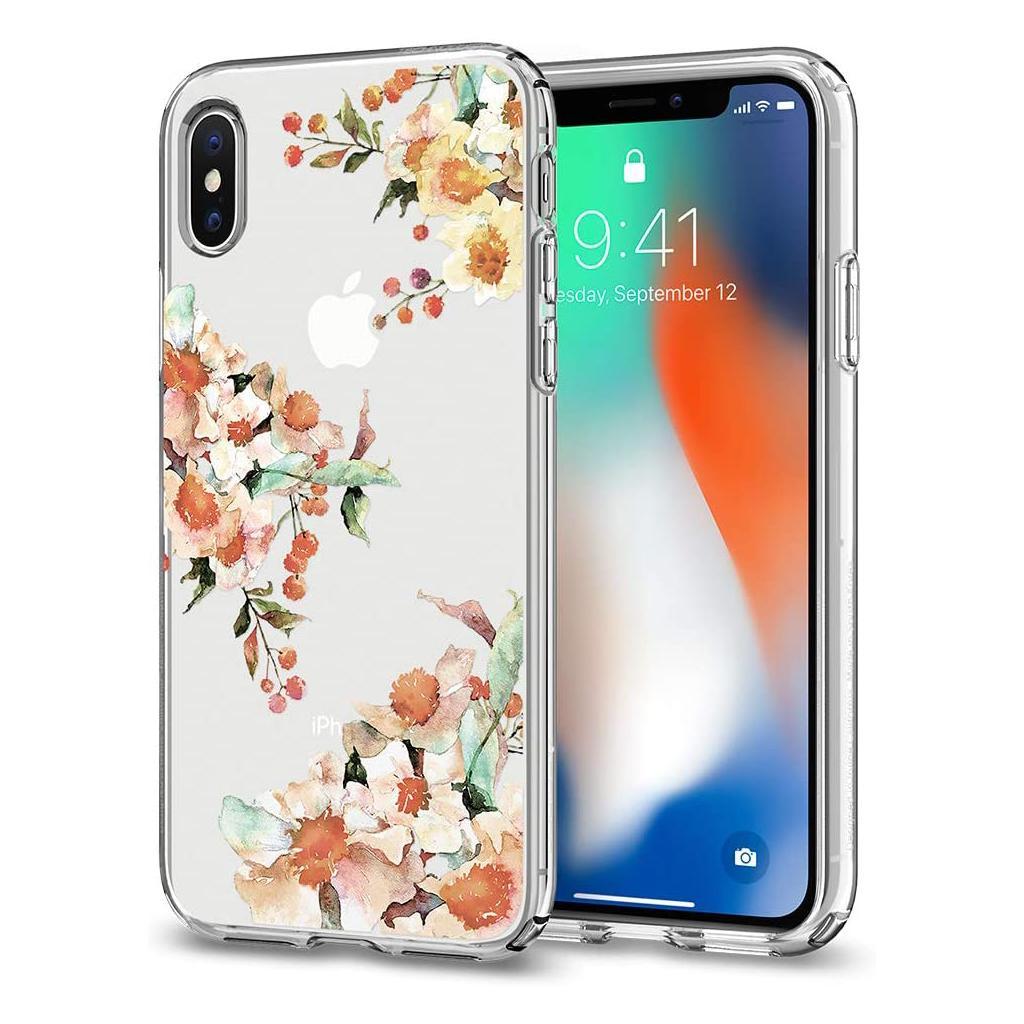 Spigen® Liquid Crystal™ Aquarelle 057CS22785 iPhone X Case - Primrose