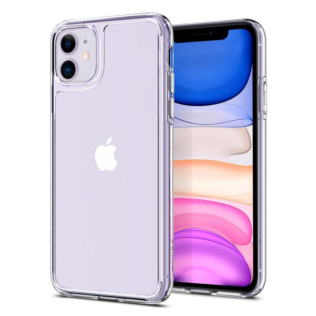 Spigen® Quartz Hybrid™ 076CS27187 iPhone 11 Case - Crystal Clear