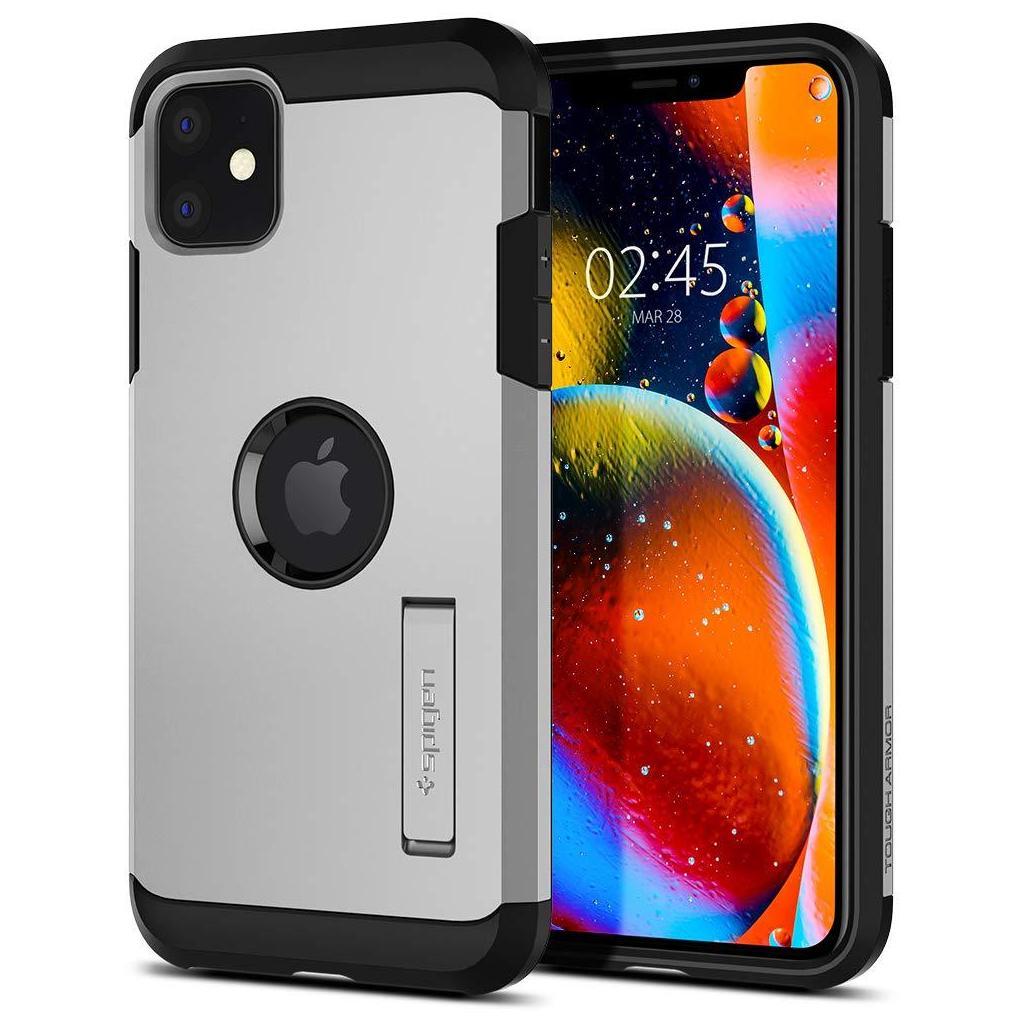 Spigen® Tough Armor™ 076CS27191 iPhone 11 Case – Satin Silver