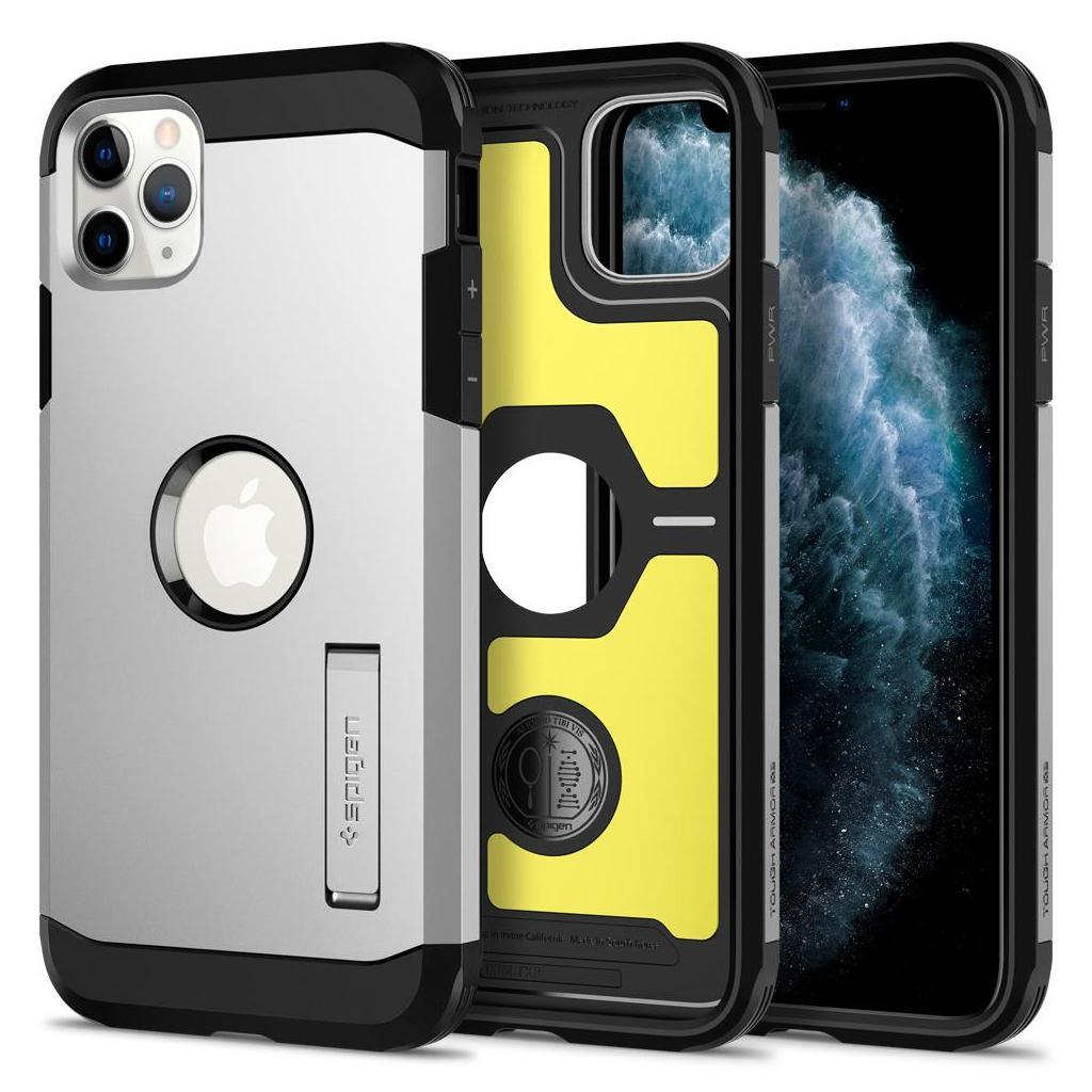 Spigen® Tough Armor™ XP 075CS27430 iPhone 11 Pro Max Case - Satin Silver