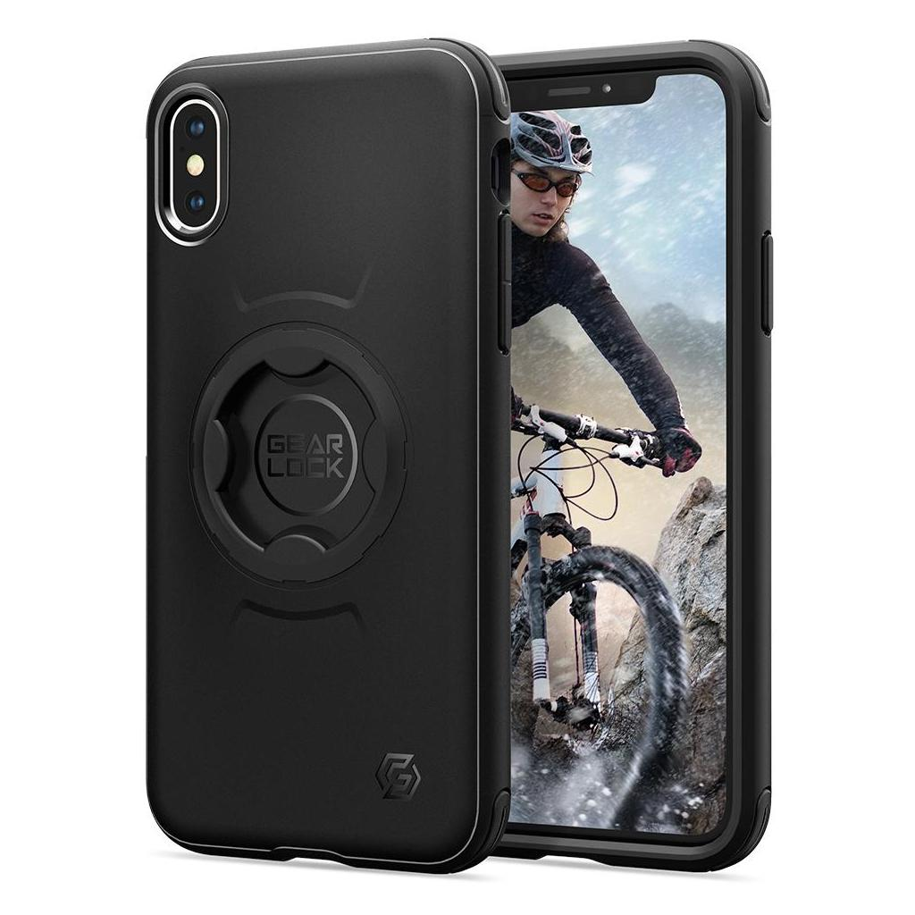 Spigen® Gearlock™ 057CS25058 iPhone XS / X Bike Mount Case - Black