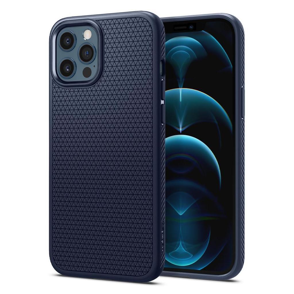 Spigen® Liquid Air™ ACS02247 iPhone 12 Pro Max Case - Navy Blue