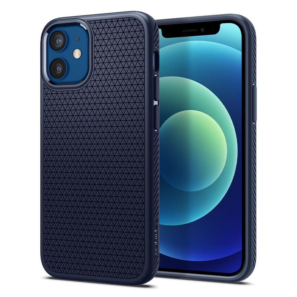 Spigen® Liquid Air™ ACS02256 iPhone 12 Mini Case - Navy Blue