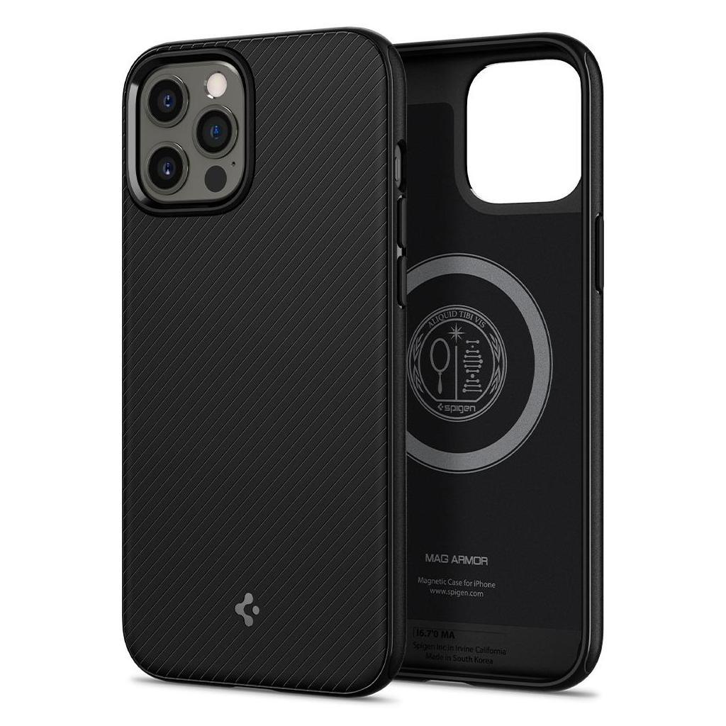 Spigen® Mag Armor ACS01864 iPhone 12 Pro Max Case - Matte Black