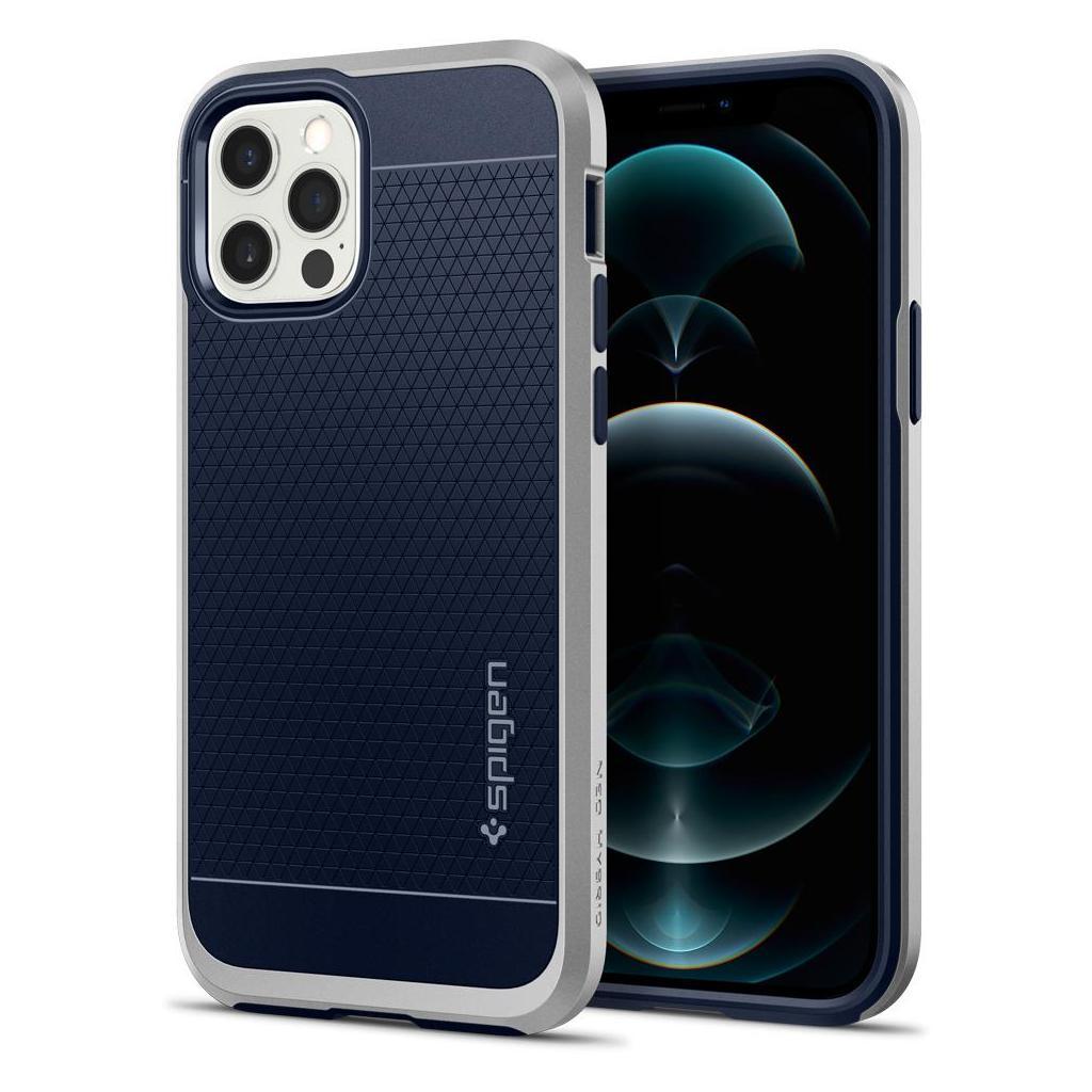 Spigen® Neo Hybrid™ ACS02254 iPhone 12 / 12 Pro Case - Satin Silver