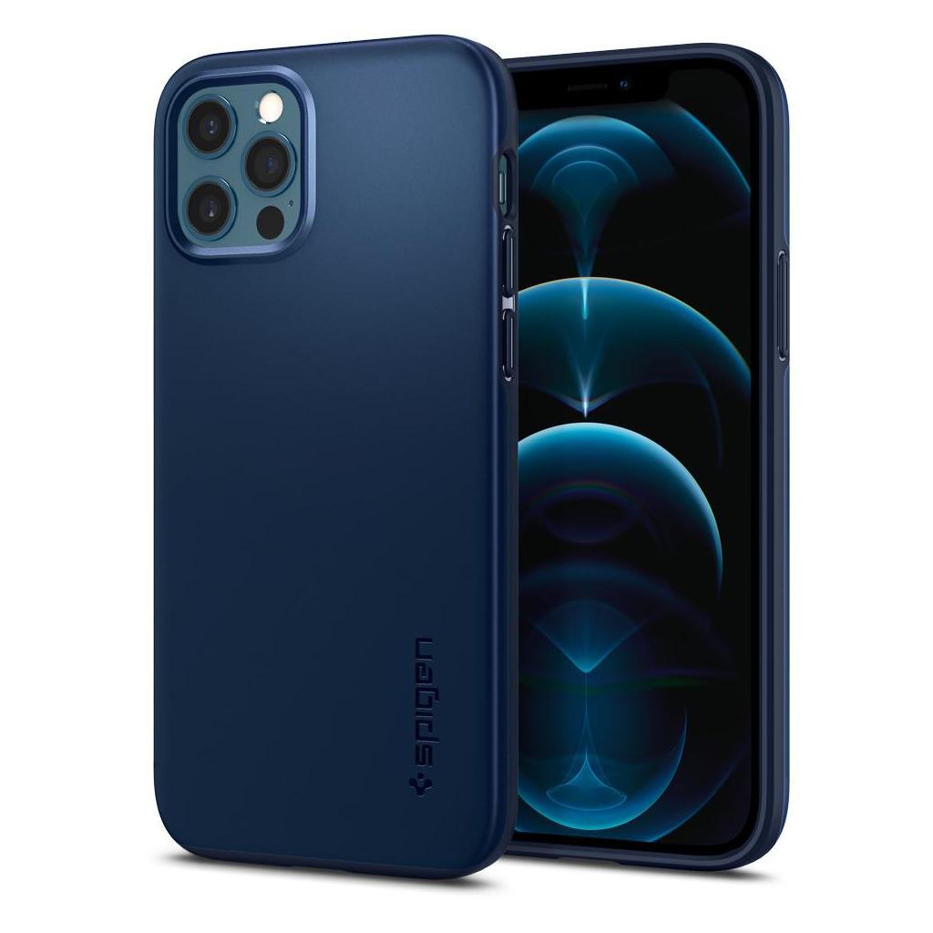 Spigen® Thin Fit™ ACS02296 iPhone 12 / iPhone 12 Pro Case - Navy Blue