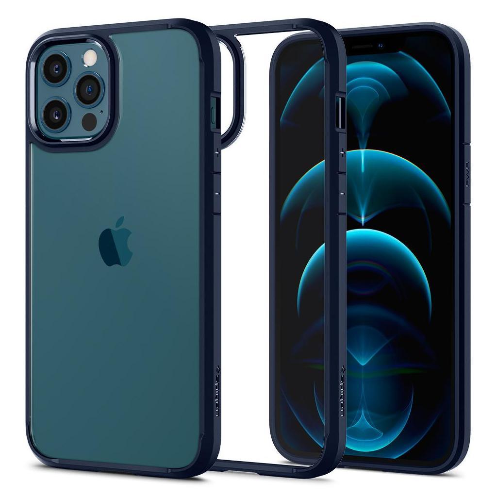 Spigen® Ultra Hybrid™ ACS02248 iPhone 12 Pro Max Case - Navy Blue