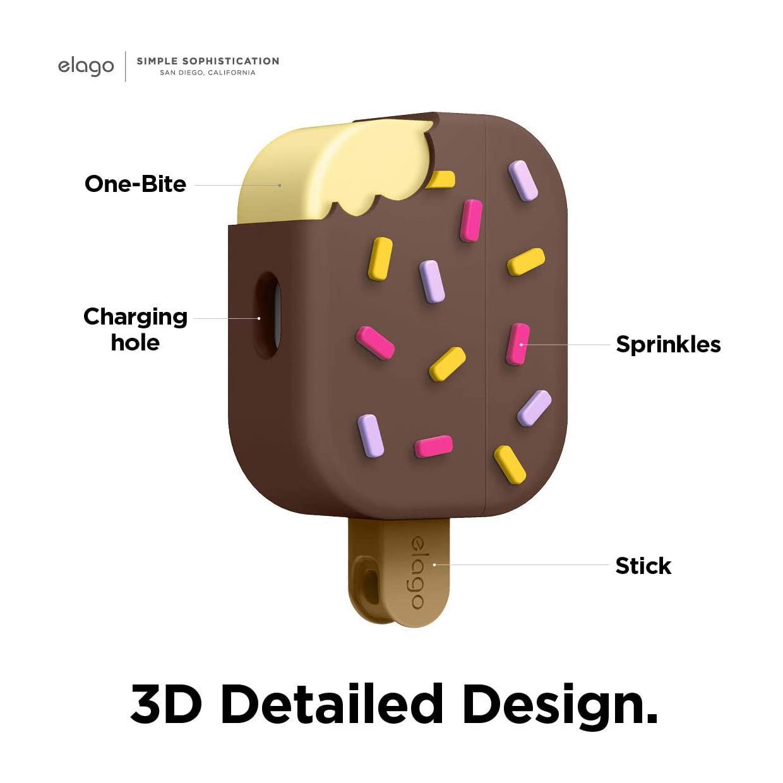 Elago® Ice Cream EAPP-ICE-DBR Apple AirPods Pro Case – Chocolate